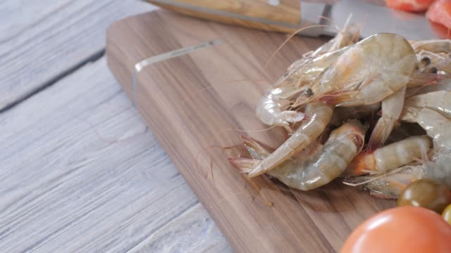 seafood colorful cuisine - preparing food stock videos & royalty-free footage