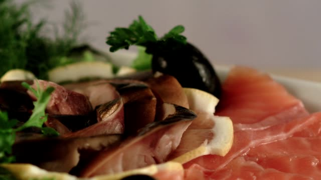 seafood plate - chopped food stock videos and b-roll footage