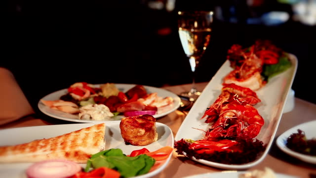seafood restauran in luxury - lobster stock videos & royalty-free footage