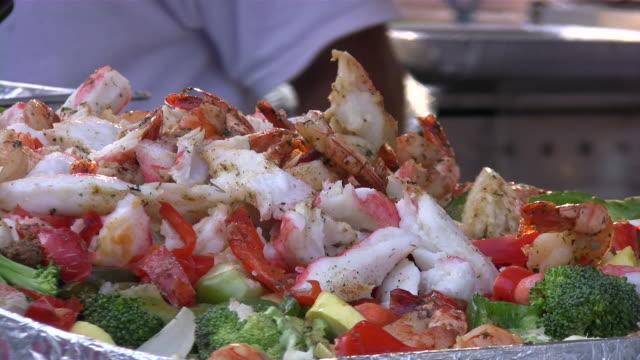 Seafood salad. Sea food - healthy choice!