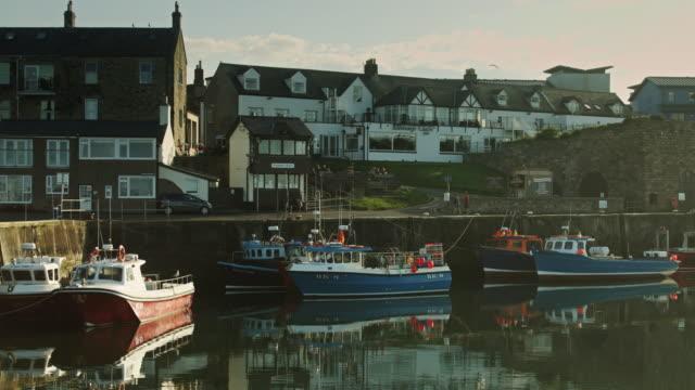 seahouses, northumberland - northumberland video stock e b–roll