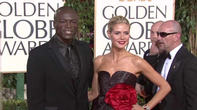 seal and heidi klum at the 66th annual golden globe awards arrivals part 5 at los angeles ca - 2009 stock-videos und b-roll-filmmaterial