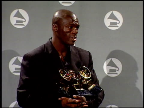 seal at the 1996 grammy awards at the shrine auditorium in los angeles, california on february 28, 1996. - shrine auditorium stock-videos und b-roll-filmmaterial