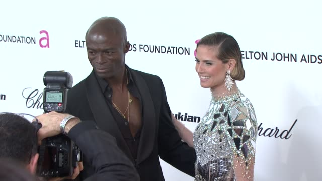 seal, heidi klum at the 19th annual elton john aids foundation academy awards viewing party at west hollywood ca. - heidi klum stock videos & royalty-free footage