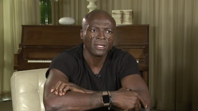 seal on his album, being a songwriter and how he loves how people define his songs at seal interview on october 05, 2015 in los angeles, california. - songwriter stock videos & royalty-free footage
