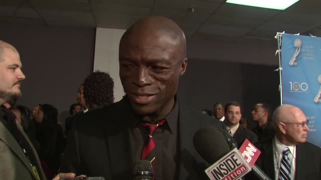 Seal on the importance of the NAACP and on his Valentine's Day plans at the 40th NAACP Image Awards at Los Angeles CA