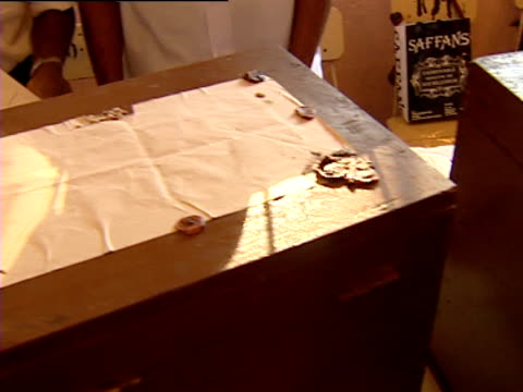 sealed ballot boxes yet to be opened sri lanka - seal stamp stock videos and b-roll footage