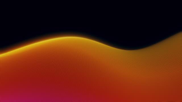 vídeos de stock e filmes b-roll de seamless colored abstract wave pattern backgrounds - curva forma