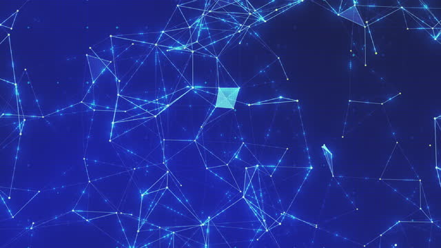 vídeos y material grabado en eventos de stock de fondos abstractos de tecnología futurista sin fisuras - malla alámbrica