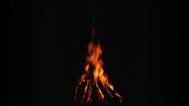 Seamless Loop of Campfire. 1080P.
