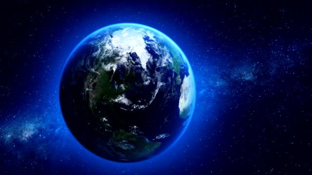 Seamless loop of Earth in space