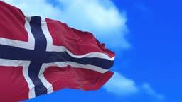 Seamless loop of Norway flag.