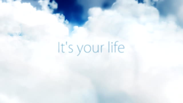 seamless loop of positive words  in the clouds - hope concept stock videos and b-roll footage