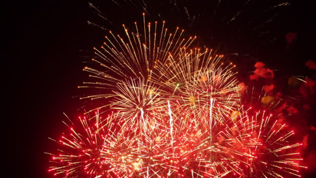 seamless looping fantastic wonderful firework - celebration stock videos & royalty-free footage