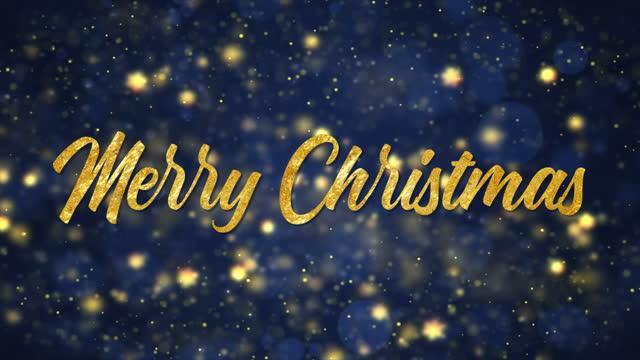 シームレスメリークリスマステキストグリーティングカード、4kビデオアニメーション。 - ビジカジ点の映像素材/bロール