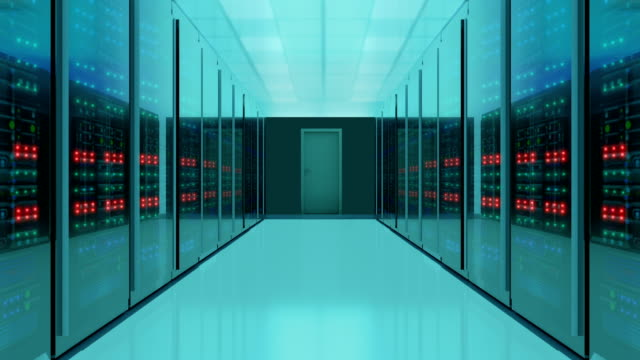 seamless shot of server room, 4k video - mid section stock videos & royalty-free footage