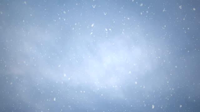 nahtloser schneehimmel, 4k-schleife. - schneeverwehung stock-videos und b-roll-filmmaterial