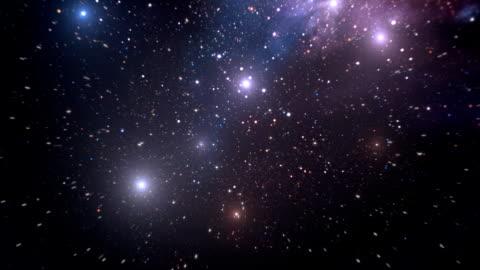 vídeos y material grabado en eventos de stock de espacio (en bucle de fondo) - campo de estrellas