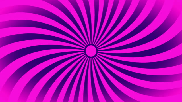 seamless swirling radial vortex background, pink and purple color stripes are swirling, 4k video. - pink color stock videos & royalty-free footage