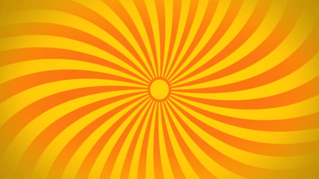 seamless swirling radial vortex background, yellow and orange color stripes are swirling. - spinning stock videos & royalty-free footage
