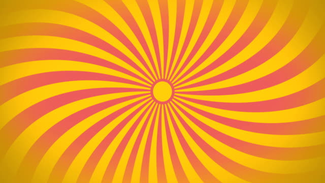 vidéos et rushes de seamless swirling radial vortex background, yellow and pink color stripes are swirling, 4k video. - hypnose