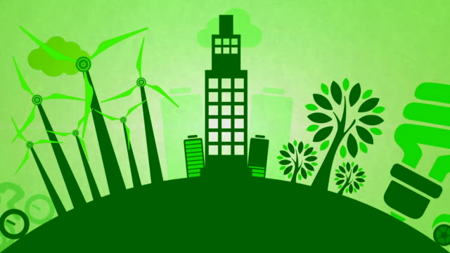 seamlessly loopable clean energy animation - environmental conservation stock videos & royalty-free footage