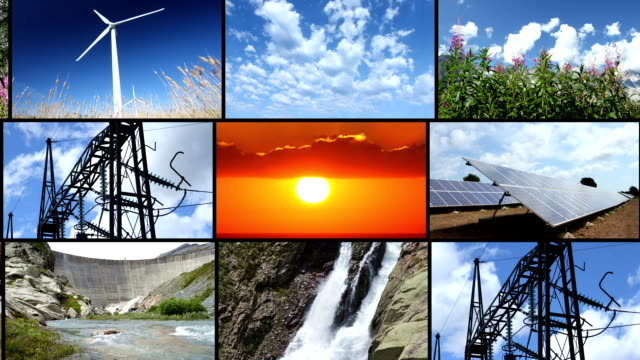 seamlessly loopable clean energy video strips - power in nature stock videos & royalty-free footage