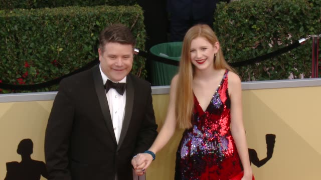 sean astin and elizabeth astin at the 24th annual screen actors guild awards at the shrine auditorium on january 21, 2018 in los angeles, california. - sean astin stock videos & royalty-free footage