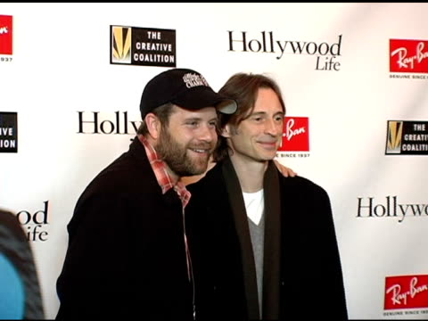 sean astin and robert carlyle at the kevin bacon reception of the 2005 ray-ban visionary award hosted by creative coalition and hollywood life at... - sean astin stock videos & royalty-free footage