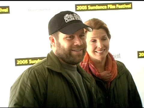 sean astin and wife at the 2005 sundance film festival 'marilyn hotchkiss ballroom dancing and charm school' premiere at the eccles theatre in park... - sean astin stock videos & royalty-free footage