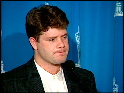 sean astin at the 1995 academy awards luncheon at the beverly hilton in beverly hills, california on march 14, 1995. - sean astin stock videos & royalty-free footage