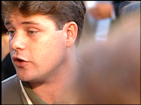 sean astin at the 'courage under fire' premiere at academy theater in beverly hills, california on july 8, 1996. - sean astin stock videos & royalty-free footage