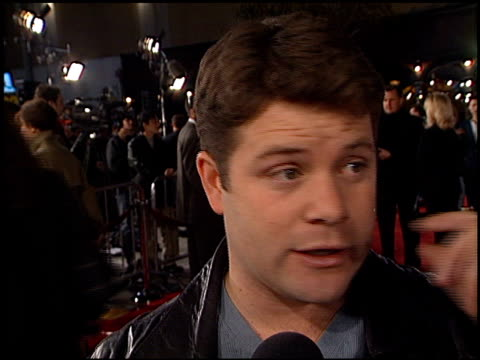sean astin at the 'hannibal' industry screening at the mann village theatre in westwood, california on february 1, 2001. - sean astin stock videos & royalty-free footage