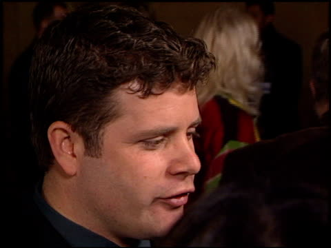 sean astin at the 'lord of the rings: fellowship of the ring' premiere at the egyptian theatre in hollywood, california on december 16, 2001. - sean astin stock videos & royalty-free footage