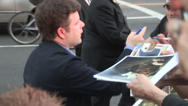 sean astin greets fans at the mom's night out premiere in hollywood - celebrity sightings in los angeles on april 29, 2014 in los angeles, california. - sean astin stock videos & royalty-free footage