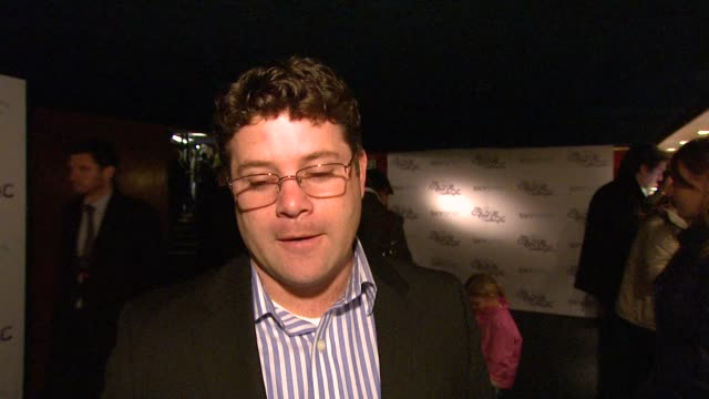 sean astin on the prospect of 'the hobbit' movie at the the colour of magic premiere at curzon mayfair in london on march 3, 2008. - sean astin stock videos & royalty-free footage