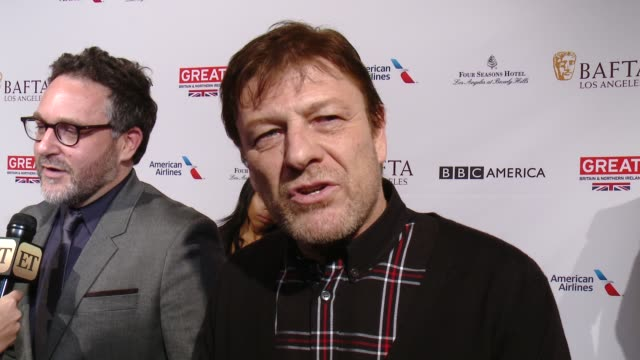 interview sean bean on being at the event and on his picks for awards season at the bafta los angeles awards season tea party at four seasons hotel... - tea party stock videos and b-roll footage