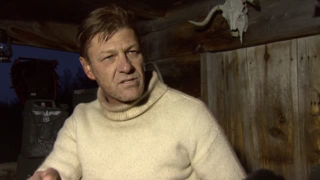 sean bean on how much he's learned about the commandos and the military during filming at the age of heroes set visit at haugesund . - sean bean stock videos & royalty-free footage