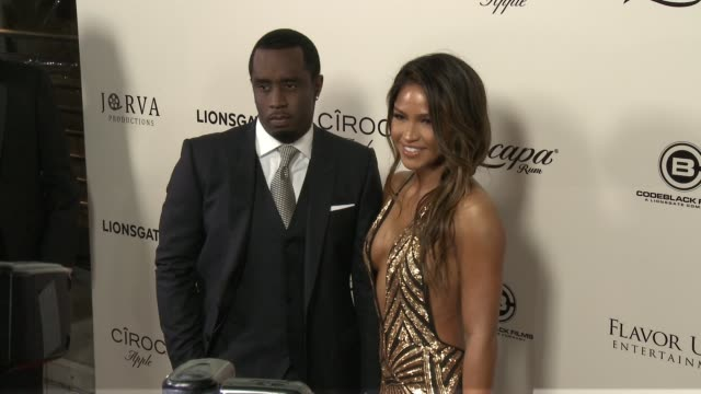 Sean Combs and Cassie Ventura at The Perfect Match Los Angeles Premiere at ArcLight Cinemas on March 07 2016 in Hollywood California