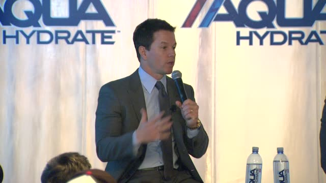 SPEECH Sean Combs and Mark Wahlberg on AQUAhydrate's relationship with the Los Angeles Clippers at Sean Combs and Mark Wahlberg Press Conference...
