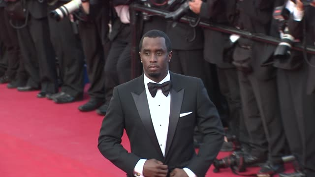 vídeos de stock, filmes e b-roll de 65th cannes film festival on may 19 2012 in cannes france - sean combs