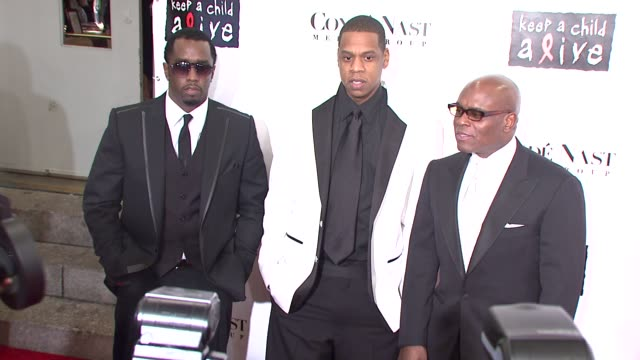sean combs, jay-z, and reid at the conde nast media group presents the 4th annual 'black ball' concert for 'keep a child alive' arrivals at the... - conde nast media group stock videos & royalty-free footage