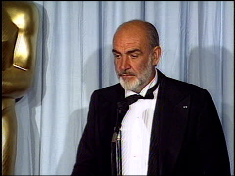 Sean Connery at the 1988 Academy Awards at the Shrine Auditorium in Los Angeles California on April 1 1988