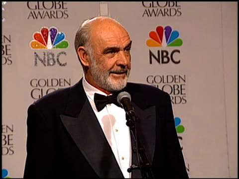 Sean Connery at the 1996 Golden Globe Awards at the Beverly Hilton in Beverly Hills California on January 21 1996