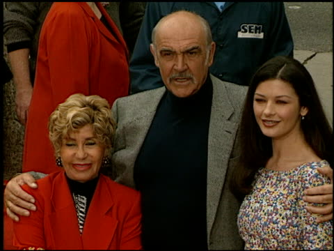 sean connery at the dedication of sean connery's footprints at grauman's chinese theatre in hollywood, california on april 13, 1999. - sean connery stock videos & royalty-free footage
