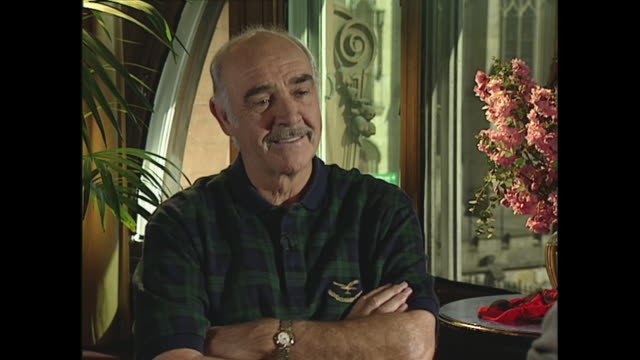 sean connery on what he did before becoming an actor - sean connery stock videos & royalty-free footage