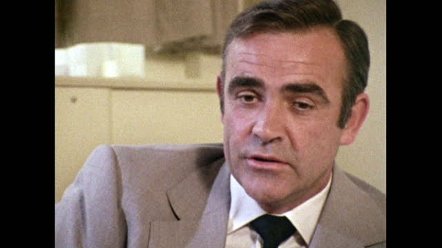 sean connery ponders on whether he has changed in the years between first becoming james bond in 'dr. no' in 1962 and reprising the role for... - headshot stock videos & royalty-free footage