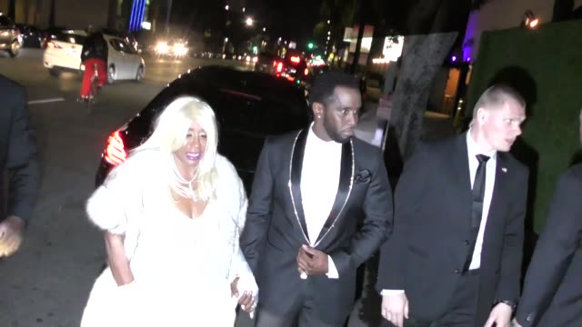 sean 'diddy' combs arrives at diana ross' 75th birthday at warwick nightclub in hollywood in celebrity sightings in los angeles - sean combs stock-videos und b-roll-filmmaterial