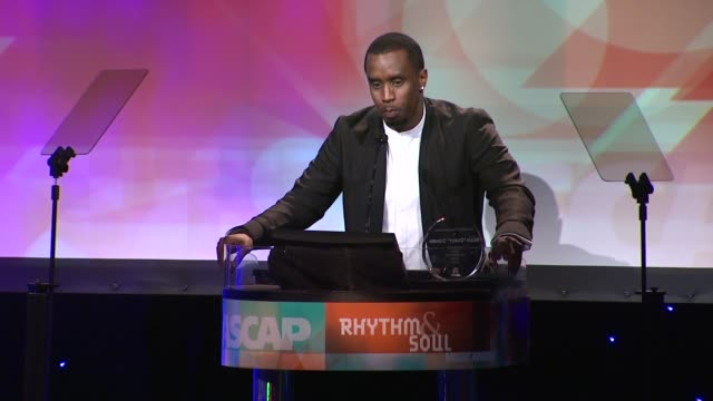 Sean 'Diddy' Combs at the 24th ASCAP Rhythm Soul Music Awards Honoring Sean 'Diddy' Combs And Mary Mary at Beverly Hills CA