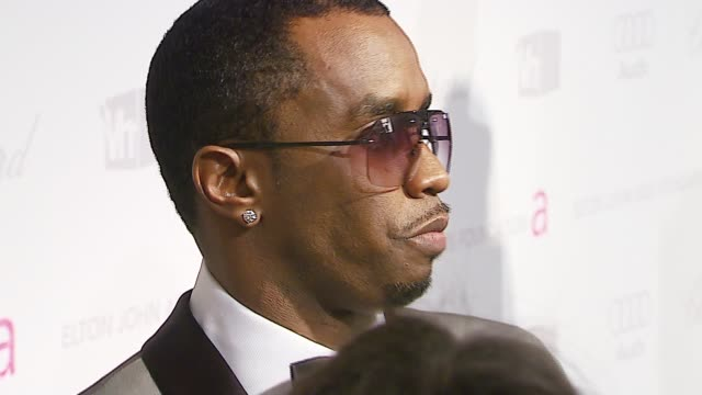 sean 'diddy' combs at the elton john 2007 oscar party at pacific design center in west hollywood, california on february 25, 2007. - oscar party stock videos & royalty-free footage